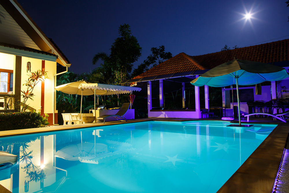 Outdoor Lighting Amp Sound Systems Add Ambience To Your Pool